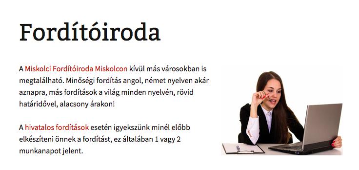 Fordító iroda Miskolc
