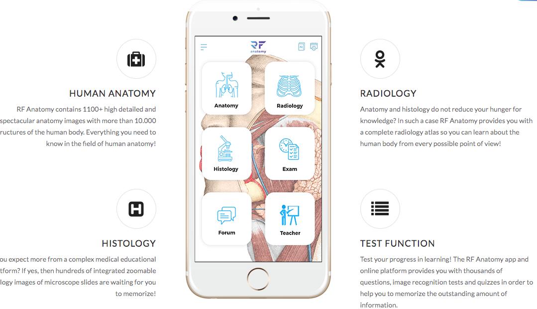 human anatomy app alkalmazas